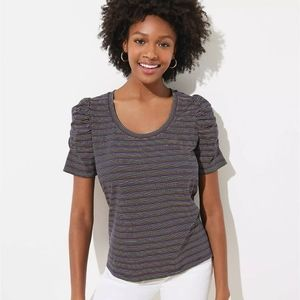 NWT LOFT Vintage Soft Striped Tee Size XL